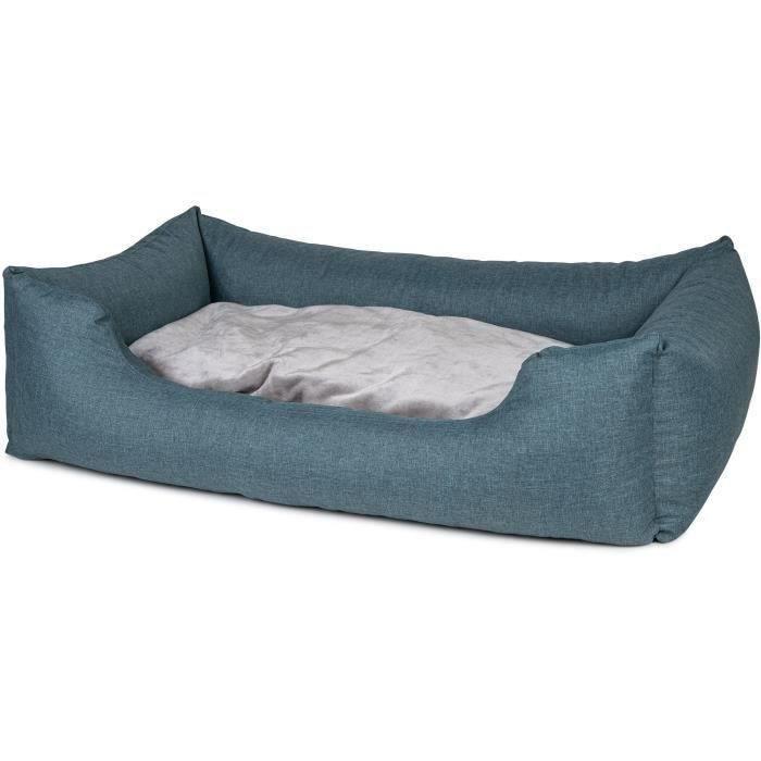 VADIGRAN Panier carré Ares - 100 cm - Turquoise - Pour chien
