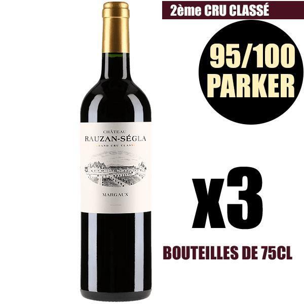 X3 Château Rauzan-Ségla 2010 75 cl AOC Margaux Rouge 2ème Cru Classé Vin Rouge