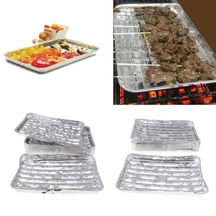 Barquette Plateau BBQ Accessoire Cuisine Moules Jetable Casseroles à Papier Aluminium