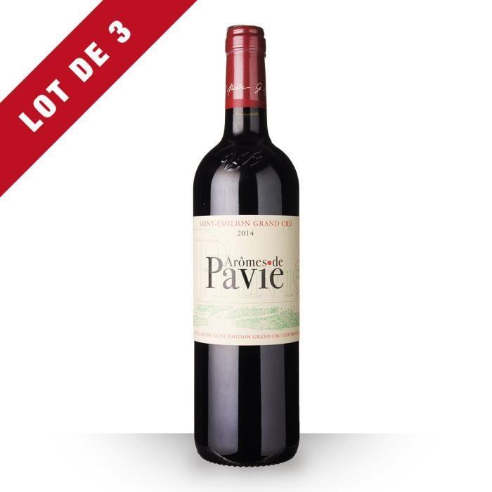 3X Aromes de Pavie 2014 Rouge 75cl AOC Saint-Emilion Grand Cru - Vin Rouge