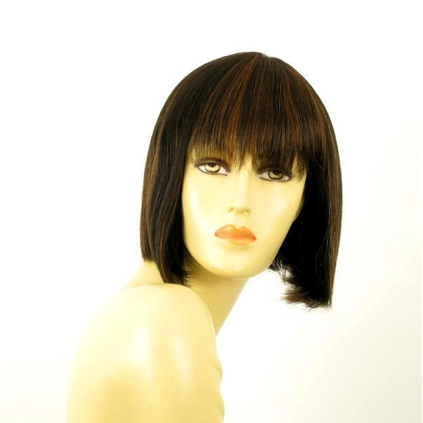perruque femme carre cheveux naturel JACKIE 1B30