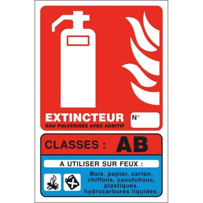 Kit de sécurité incendie - Panneaux Extincteur Classe AB 01PP1