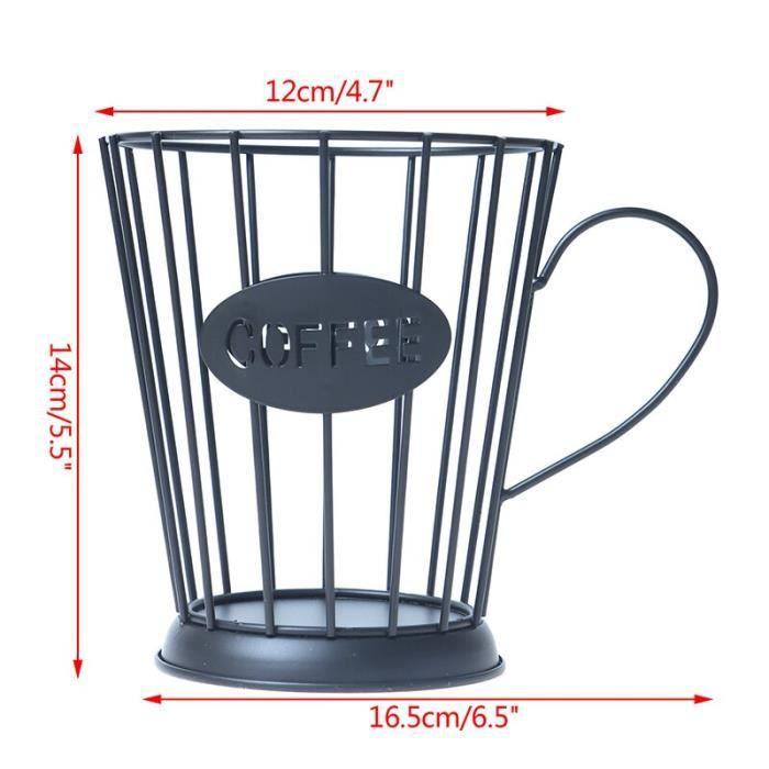 Universel café Capsule stockage panier tasse à café panier Vintage café Pod support organisateur noir pour maison [AB3667D]