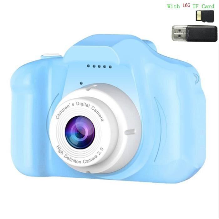 Appareil photo enfant,Enfants enfants caméra Mini jouets éducatifs pour enfants bébé cadeaux cadeau - Type With 16g TF Card #E