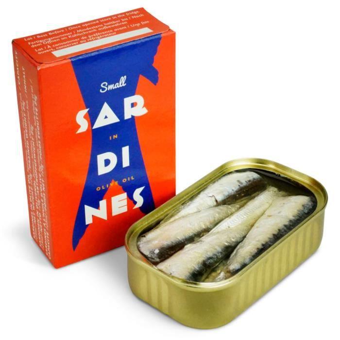 Petites sardines à l'huile d'olive 10/12 pièces - boîte 120g