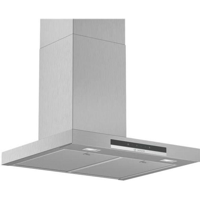 Bosch Serie 4 DWB66IM50 Hotte hotte décorative largeur : 60 cm profondeur : 50 cm extraction et recirculation (avec kit de…