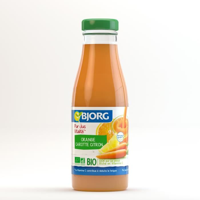 BJORG Jus Vitalité Orange Carotte Bio 75cl