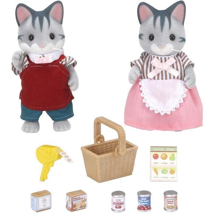 SYLVANIAN FAMILIES 5052 Set Chats gris commerçants