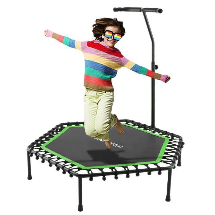 ANCHEER Trampoline de fitness pliable poignée réglable
