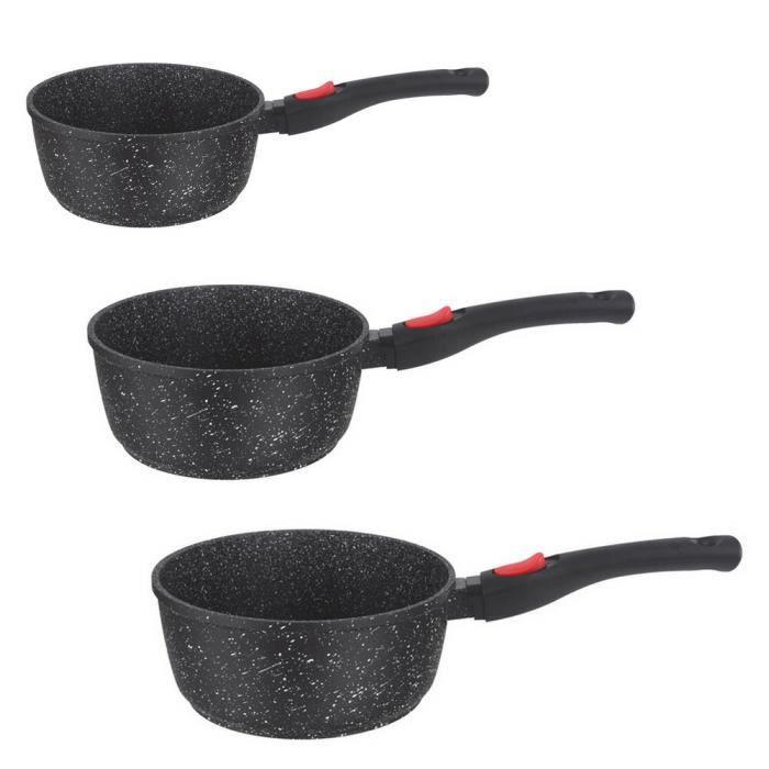 Série de 3 casseroles en pierre 16, 18 et 20 cm Ka