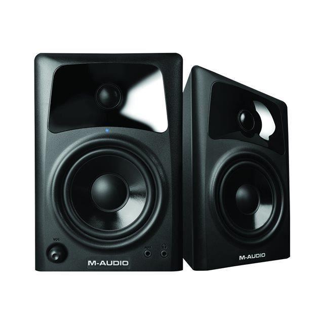 Pack M-Audio Studiophile AV 42 - Enceinte multimédia 2 voies 2x20 w ( paire) + Casque Offert