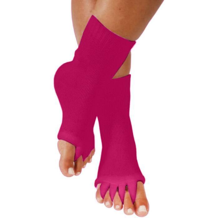 Chaussettes à cinq orteils Chaussettes de Yoga Gym Sports