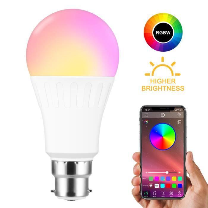 LED Ampoules de couleur Changement de Couleur Ampoule RGB+Blanc Baïonnette 10Watt B22 Types RGBW LED Ampoules +Télécommande
