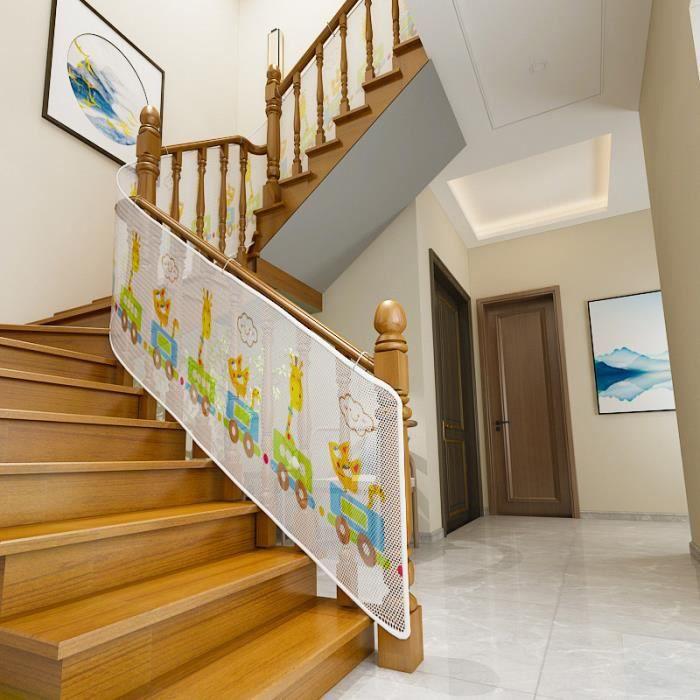 Filet de Protection Balcon pour Bébé et Enfant, Filet de Sécurité pour Balcon et Escalier, Solide et robuste - 300*77cm