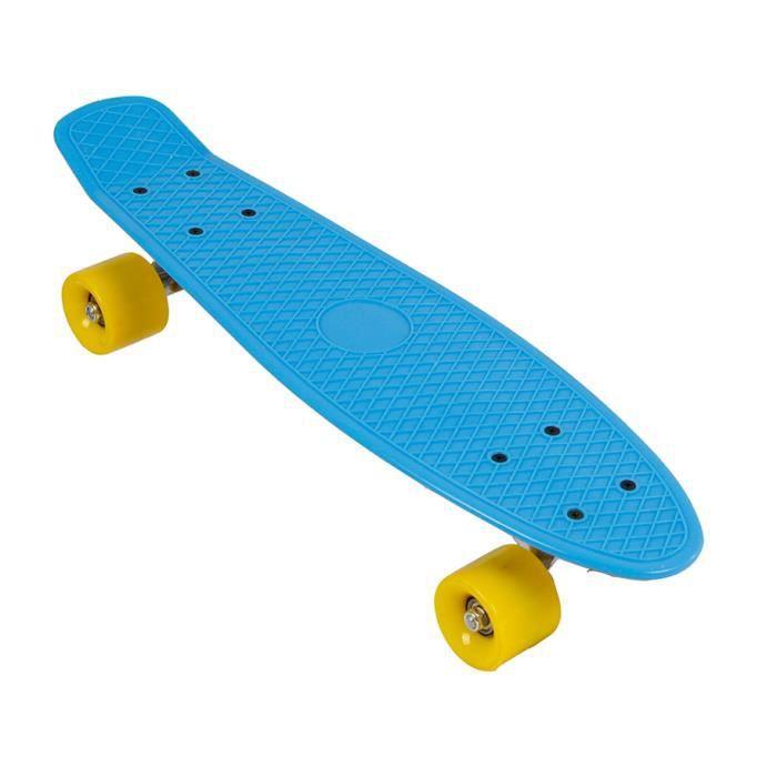 TOM skateboard Retro 56 cm polypropylène bleu
