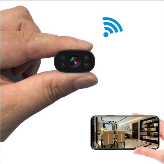 Mini caméra espion WiFi petite caméra 1080P enregistreur vidéo de surveillance à distance