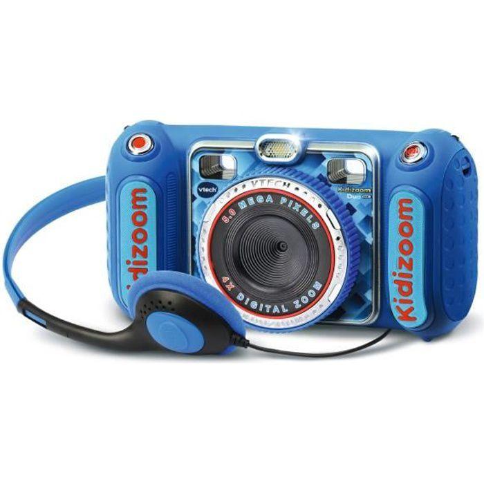 Vtech - kidizoom duo DX bleu - appareil photo enfant