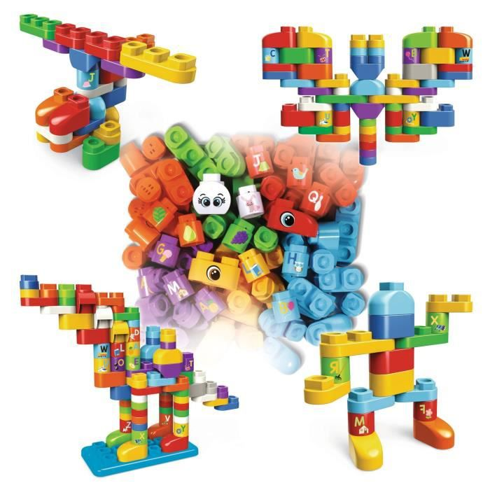 VTECH - BLA BLA BLOCKS - Baril de 80 Blocs (Sans électronique)