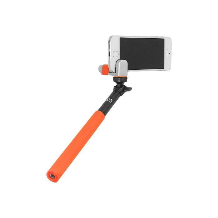 Perche Télescopique Selfie Stick ME-SHOT STANDARD Noir/Orange