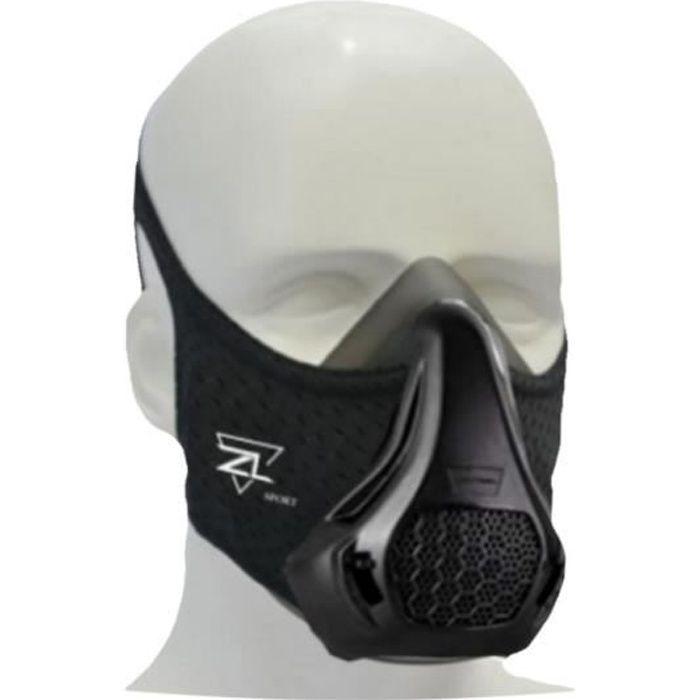 ZL SPORT Masque de Sport, Entraînement, Training Mask, Simulateur Haute Altitude pour Tous Les Sports Intensifs, Masque Cardio