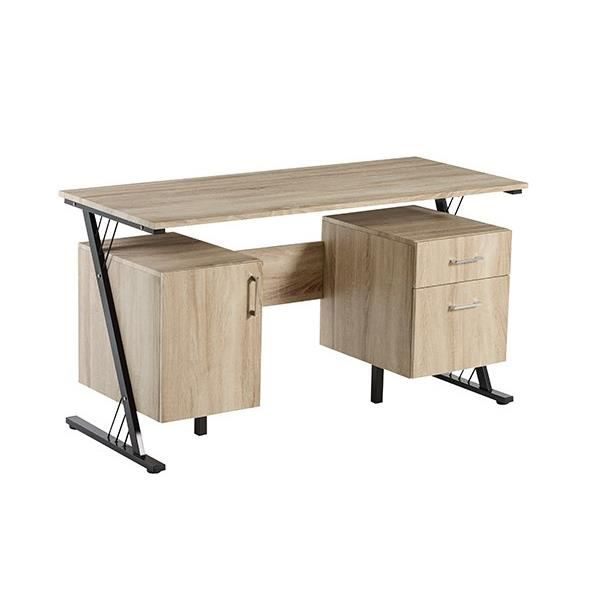 Hipster bureau contemporain en m tal poxy noir et mdf for Meuble bureau contemporain
