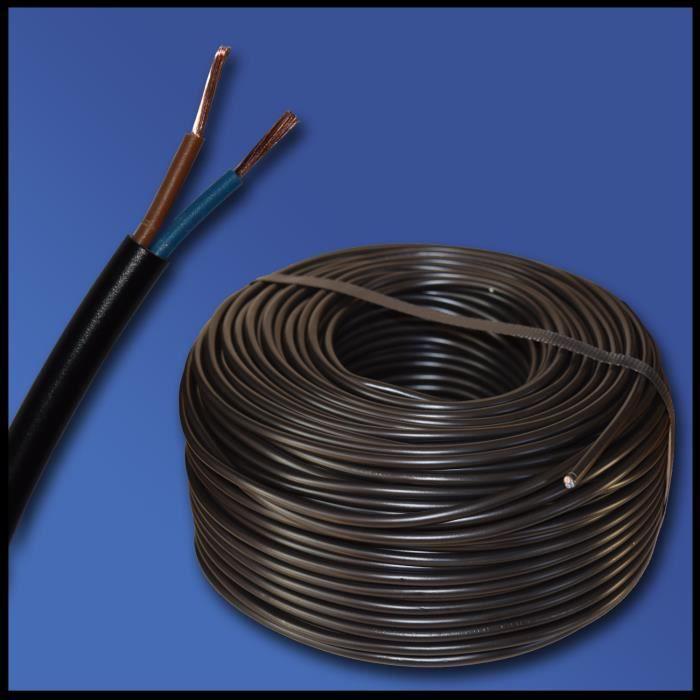 C/âble dalimentation /électrique NYY-J 3 x 6 mm 2 Exemple : 10 m 35 m 50 m 30 m 25 m C/âble de terre NYY-J 3 x 6 mm2 45 m S/élection en 5 m/ètres mm2 20 m Noir 40 m