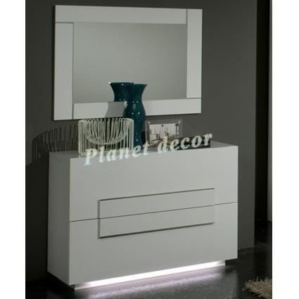 commode chambre adulte city sans miroir achat vente. Black Bedroom Furniture Sets. Home Design Ideas