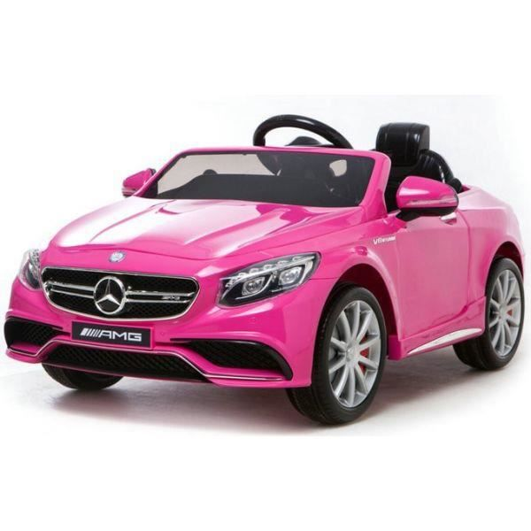 voiture lectrique 12v mercedes s63 amg rose pack luxe achat vente voiture enfant cdiscount. Black Bedroom Furniture Sets. Home Design Ideas