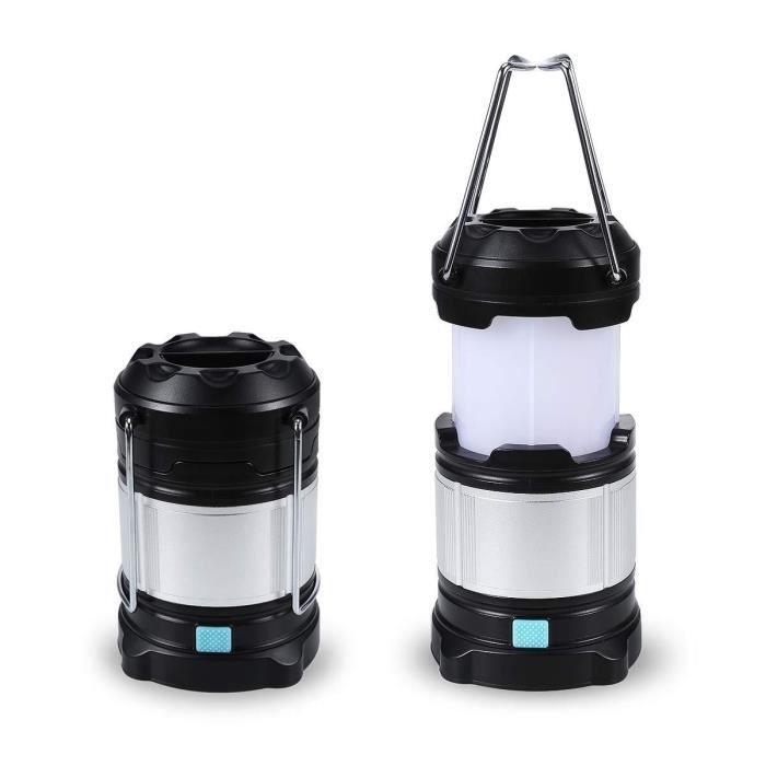 r/éparation de voitures Lampe de travail rechargeable en plein air COB lampe de poche pour tente avec lampe de secours suspendue au camping avec un aimant puissant int/égr/é /à la base pour camping lam