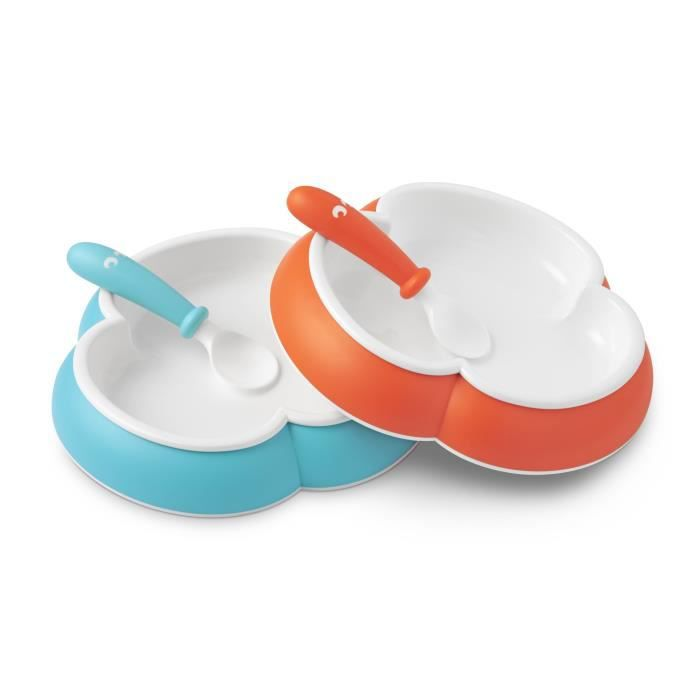 babybjorn assiette et cuill re pour b b lot de 2 orange et turquoise achat vente couverts. Black Bedroom Furniture Sets. Home Design Ideas