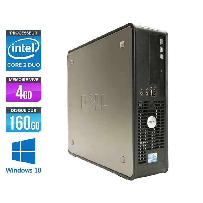 UNITÉ CENTRALE  PC Dell 780 - Core 2 Duo 2,93GHz - 4Go - Windows 1