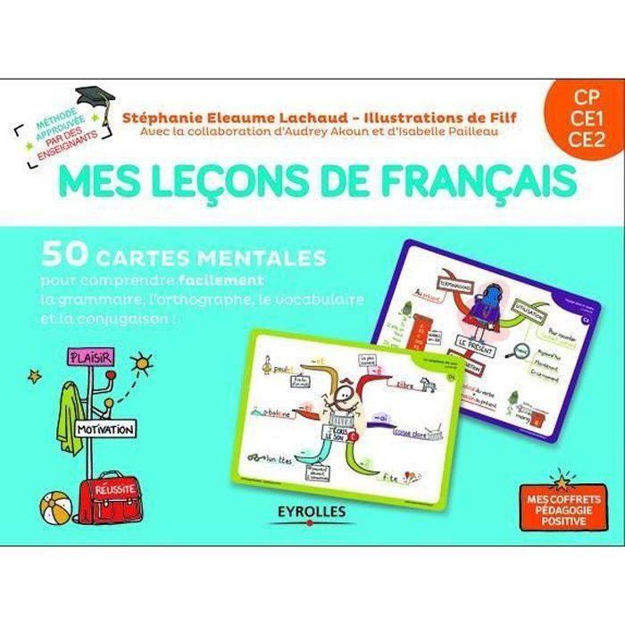 Livre Mes Lecons De Francais Cp Ce1 Ce2 50 Cartes Mentales