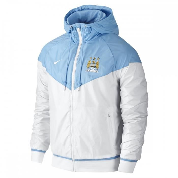 veste coupe vent nike manchester city authentic windrunner 693086 488 blanc achat vente. Black Bedroom Furniture Sets. Home Design Ideas