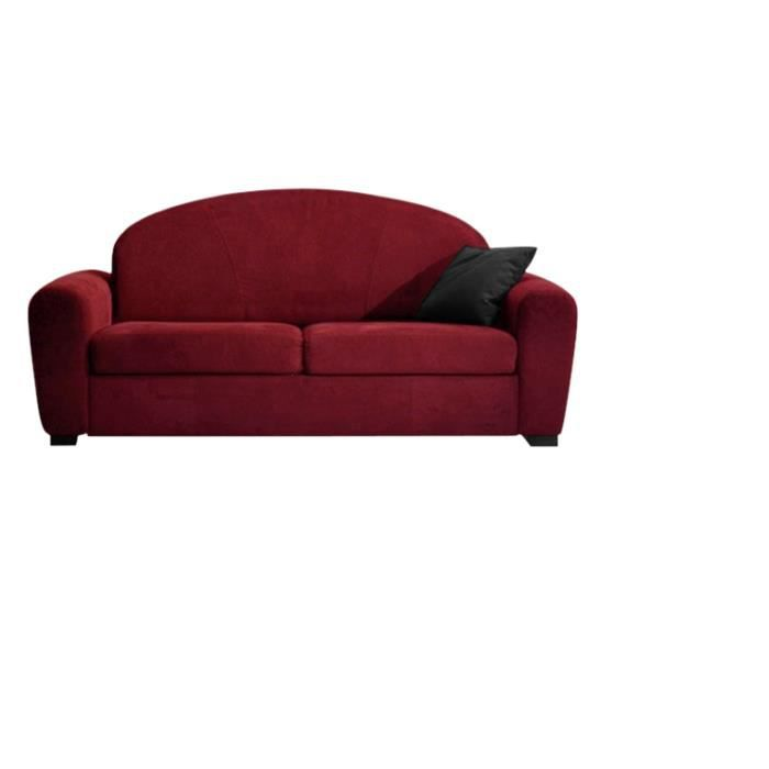 canap convertible 140x190 club microfibre rouge achat. Black Bedroom Furniture Sets. Home Design Ideas