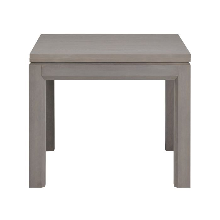 Academy table l90 180 cm finition ch ne gris achat for Table carree de salle a manger