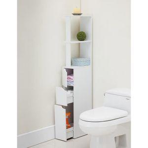COLONNE - ARMOIRE WC TOP Colonne de toilette L 15 cm - Blanc mat