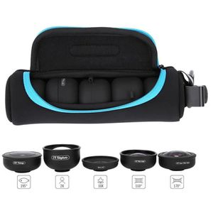 FLASH POUR TELEPHONE APEXEL 5-en-1 Fish Eye Portable + Grand Angle + Ma