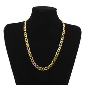 SAUTOIR ET COLLIER Collier en or jaune 18 carats avec chaîne Figaro,