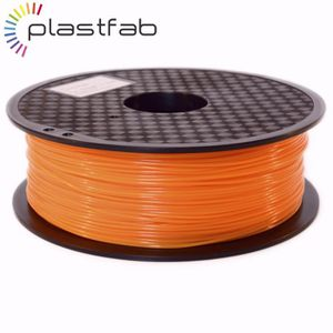 FIL POUR IMPRIMANTE 3D Plastfab - Filament 3D PLA Orange 1 kg 1.75 mm - Q