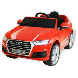 VOITURE ELECTRIQUE ENFANT Cadeau Voiture électrique pour enfants Audi Q7 Rou
