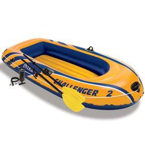 BATEAU PNEUMATIQUE Set bateau gonflable avec rames + pompe Challenger