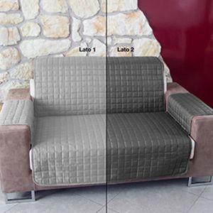 HOUSSE DE CANAPE housse de canapé de monnaie matelassé bicolore 4P
