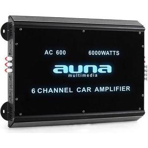AMPLIFICATEUR AUTO aunaW2-Ac600 - Ampli auto 6 canaux pour sono voitu