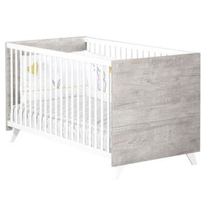 LIT BÉBÉ Babyprice - SCANDI GRIS - Lit Evolutif Little Big