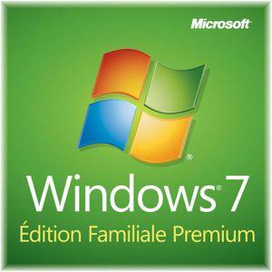 SYSTÈME D'EXPLOITATION Windows 7 Edition Familiale Premium 64 bits OEM