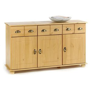 BUFFET - BAHUT  Buffet commode 3 tiroirs + 3 portes pin massif las