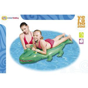 matelas gonflable crocodile pour piscine ou plage achat vente jeux de piscine matelas. Black Bedroom Furniture Sets. Home Design Ideas
