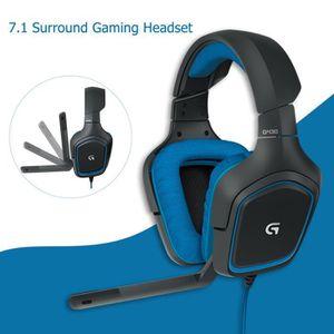 CASQUE AVEC MICROPHONE Logitech G430 Surround 7.1 casque de jeu avec micr