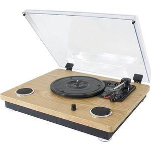 FEUTRINE DJ MADISON 10-5562MA Platine vinyle vintage avec haut