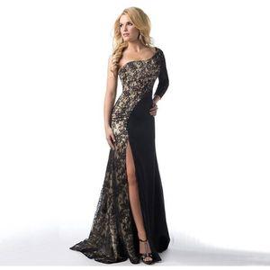ROBE Mode femme robe de soirée Une épaule à manches lon
